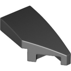 Black Wedge 2 x 1 with Stud Notch Right - new
