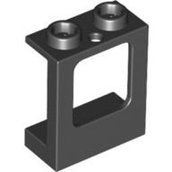 Black Window 1 x 2 x 2 Plane, Single Hole Top and Bottom for Glass - new