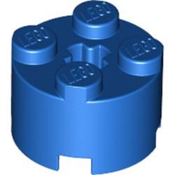 Blue Brick, Round 2 x 2 with Axle Hole