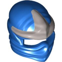 Blue Minifigure, Headgear Ninjago Wrap with Silver 3 Point Emblem Pattern - used