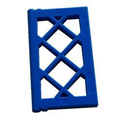 Blue Pane for Window 1 x 2 x 3 Lattice - used