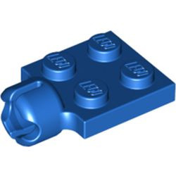 Blue Plate, Modified 2 x 2 with Tow Ball Socket, Short, 4 Slots