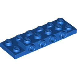 Blue Plate, Modified 2 x 6 x 2/3 with 4 Studs on Side - new