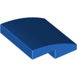 Blue Slope, Curved 2 x 2 - used