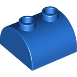 Blue Slope, Curved 2 x 2 x 1 Double with 2 Studs