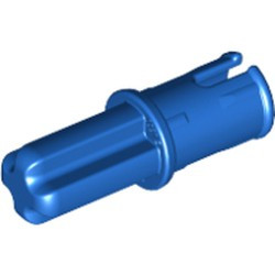 Blue Technic, Axle 1 with Pin with Friction Ridges Lengthwise - used