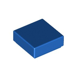 Blue Tile 1 x 1 with Groove (3070) - used