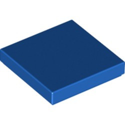 Blue Tile 2 x 2 with Groove - new