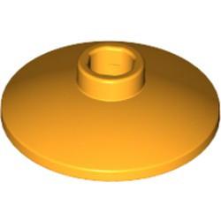 Bright Light Orange Dish 2 x 2 Inverted (Radar) - new