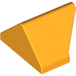 Bright Light Orange Slope 45 2 x 1 Double / Inverted - with Bottom Stud Holder - used