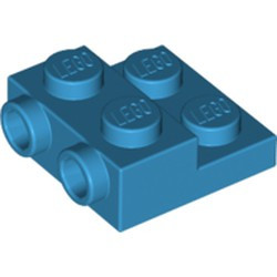 Dark Azure Plate, Modified 2 x 2 x 2/3 with 2 Studs on Side
