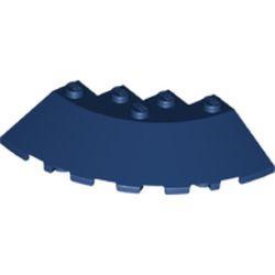 Dark Blue Brick, Round Corner 6 x 6 with Slope 33 Edge, Facet Cutout