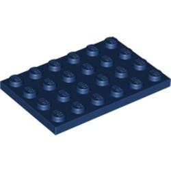 Dark Blue Plate 4 x 6 - new