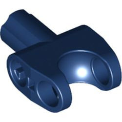 Dark Blue Technic, Axle Connector 2 x 3 with Ball Joint Socket and Axle Socket with White Rubber Insert Pattern