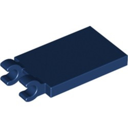 Dark Blue Tile, Modified 2 x 3 with 2 Open O Clips - new