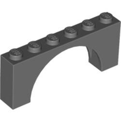 Dark Bluish Gray Brick, Arch 1 x 6 x 2 - Medium Thick Top without Reinforced Underside - new