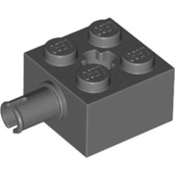 Dark Bluish Gray Brick, Modified 2 x 2 with Pin and Axle Hole