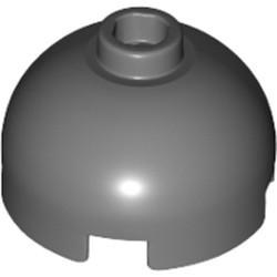 Dark Bluish Gray Brick, Round 2 x 2 Dome Top - Hollow Stud with Bottom Axle Holder x Shape + Orientation