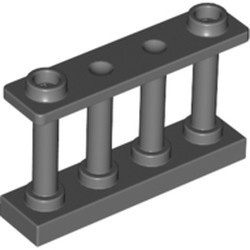 Dark Bluish Gray Fence 1 x 4 x 2 Spindled with 2 Studs