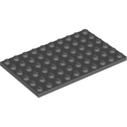 Dark Bluish Gray Plate 6 x 10 - used