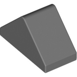 Dark Bluish Gray Slope 45 2 x 1 Double - with Bottom Stud Holder