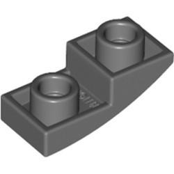 Dark Bluish Gray Slope, Curved 2 x 1 Inverted - new