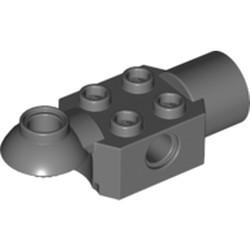 Dark Bluish Gray Technic, Brick Modified 2 x 2 with Pin Hole, Rotation Joint Ball Half (Horizontal Top), Rotation Joint Socket - used