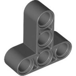 Dark Bluish Gray Technic, Liftarm, Modified T-Shape Thick 3 x 3