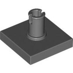 Dark Bluish Gray Tile, Modified 2 x 2 with Pin - used