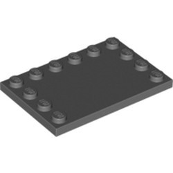 Dark Bluish Gray Tile, Modified 4 x 6 with Studs on Edges