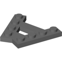 Dark Bluish Gray Wedge, Plate A-Shape with 2 Rows of 4 Studs