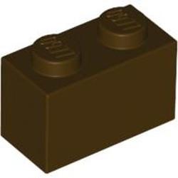 Dark Brown Brick 1 x 2 - new
