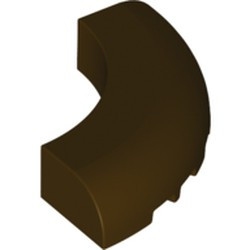 Dark Brown Brick, Round Corner 5 x 5 x 1 without Studs - new