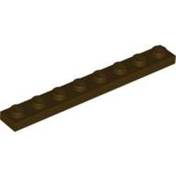 Dark Brown Plate 1 x 8 - used