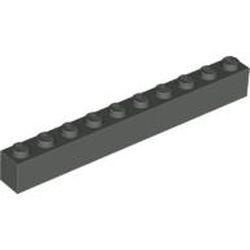 Dark Gray Brick 1 x 10