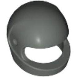 Dark Gray Minifigure, Headgear Helmet Motorcycle (Standard) - used
