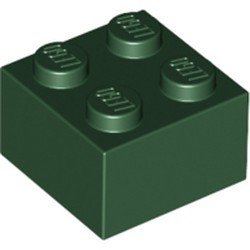 Dark Green Brick 2 x 2 - new