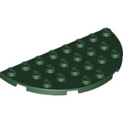 Dark Green Plate, Round Half 4 x 8 I 01-1 N- new