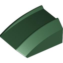Dark Green Slope, Curved 2 x 2 Lip