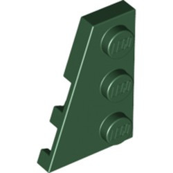 Dark Green Wedge, Plate 3 x 2 Left - new