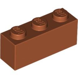 Dark Orange Brick 1 x 3 - used