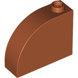Dark Orange Slope, Curved 3 x 1 x 2 with Stud