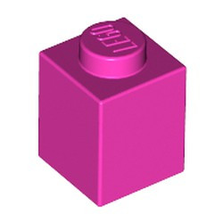 Dark Pink Brick 1 x 1 - used