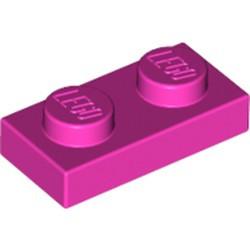 Dark Pink Plate 1 x 2