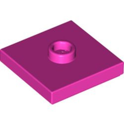 Dark Pink Plate, Modified 2 x 2 with Groove and 1 Stud in Center (Jumper)