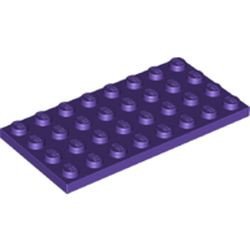 Dark Purple Plate 4 x 8