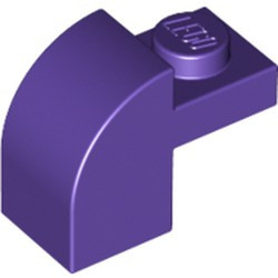 Dark Purple Slope, Curved 2 x 1 x 1 1/3 with Recessed Stud