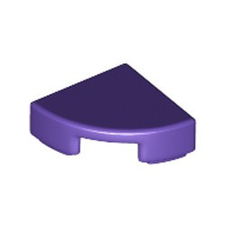 Dark Purple Tile, Round 1 x 1 Quarter - new