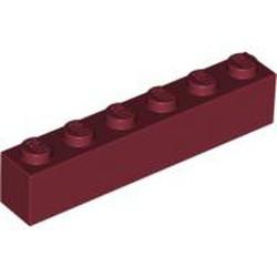 Dark Red Brick 1 x 6 - used