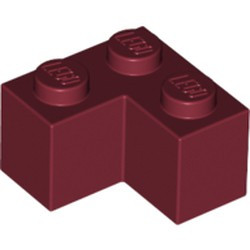 Dark Red Brick 2 x 2 Corner - new